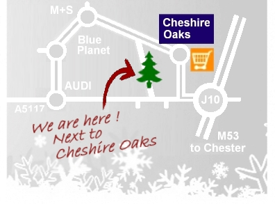 Directions to Cheshire Reindeer Lodge and Christmas Tree farm, Chester